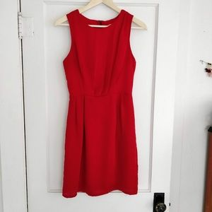 Modcloth Honey Punch Silky Little Red Dress